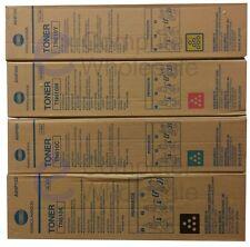 4 x Konica Minolta Toner TN-610K Black K,610C Cyan,610M,610Y Cartridges 610 K