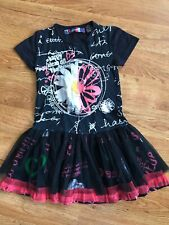 Desigual Girls Tulle Skirted Dress Happy Ideas 7/8 years