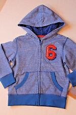 Sonoma Boy Size 4 Blue Hoodie Jacket with Fleece Lining - Coat Zippered NEW