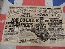 FACES/RORY GALLAGHER/GENESIS and MORE Original 1972 Festival ADVERT/POSTER Rare