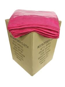 """240 Pink Microfiber 14""""x14"""" Cleaning Detailing Cloths Towel Auto Car Rag 300GSM"""