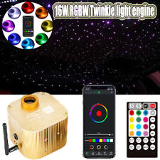 12V 16W 300x Stars RGB Car SUV Interior Roof Ceiling Decor 2m Fiber Optic Wire