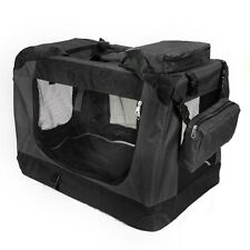 Pet Carrier Crate Portable Black Dog 28in x 21in x 21in Steve Kaeser Since 1989