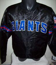 NEW YORK GIANTS Starter Throwback Style NFL Jacket BLACK XS M L XL 2X
