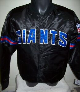 NEW YORK GIANTS Starter Throwback Style NFL Jacket BLACK XS M L