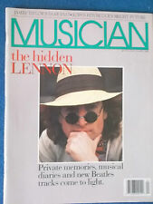 Musician April 1988 Magazine. John Lennon article. Also James Taylor article.