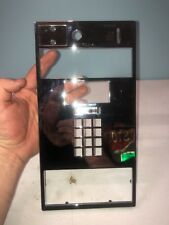 Pay phone  New old stock push button Faceplate chrome plated commtek ind