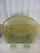 Vintage Art Deco Clear Plastic Birdcage w/ Feeders Lucite Celluloid ? c.1940's