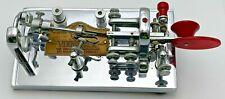 Vintage Vibroplex Chrome Bug Code Key Red Deluxe Amateur Radio CW Telegraph