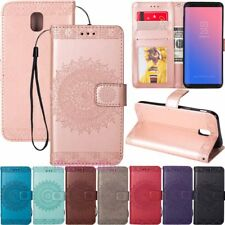 For Samsung Galaxy S10 S9 S8 A7 J4 J6 Wallet Card Holder Flip Leather Case Cover