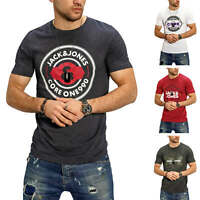 Jack & Jones Herren T-Shirt Print Kurzarm Shirt Casual Short Sleeve Streetwear