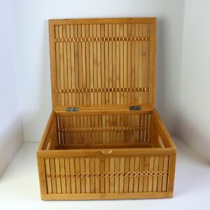 The Container Store Bamboo Box with Hinged Lid