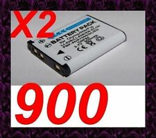 "★★★ ""900mA"" 2X BATTERIE Lithium ion ★ Pour Olympus FE series FE-3000,FE-3010"
