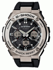 Casio G-Shock GSTS110-1A Tough Solar Stainless Steel Bezel Resin Band Watch