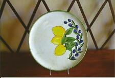 BEAUTIFUL  POTTERY PLATE/ PLATTER W/ LEMONS ITALY MADE FOR ARTE D'ITALIA