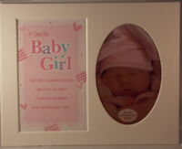 Baby Girl Keepsake Photo Frame Mount to take 6 x 4 inch photo 20.25cm