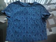 Firetrap Designer Rock & Rags Size 8-10 (S) Blue Top, Zip Back, Vintage Look