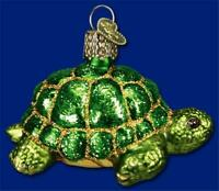 TORTOISE TURTLE REPTILE OLD WORLD CHRISTMAS GLASS NATURE ORNAMENT NWT 12198