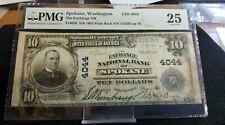 Spokane, Washington $10 1902 Plain Back National Bank Note PMG Very Fine 25