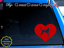 American Foxhound in Heart - Vinyl Decal Sticker -Color Choice - High Quality