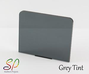 Grey Tint Acrylic 3mm Cast Acrylic Sheet in Transparent Grey