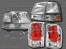 98 99 00 FORD RANGER CLEAR HEADLIGHTS + SIGNAL CORNER LIGHTS CLEAR + TAIL LIGHTS