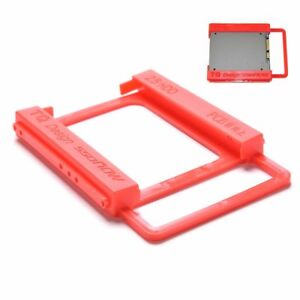 """2.5"""" to 3.5"""" Screw-less SSD HDD Adapter Mounting Hard Drive Bracket Holder Red"""