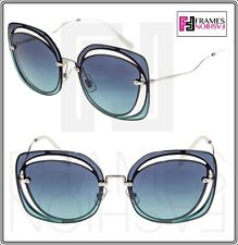 9d0fd4d21787 MIU MIU Scenique Evolution 54s Silver Blue Gradient Oversized Sunglasses  Mu54ss
