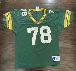 Ross Verba 78 Vintage Green Bay Packers NFL Football Jersey Youth Large Champion