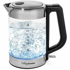 Electric Kettle - 1.8 Liter Bpa Free - Borosilicate Glass & Stainless Steel