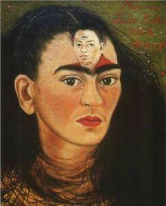 Print -    Diego and I, 1949 by Frida Kahlo