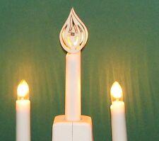 Aufsteckstern Stern Aufsatz Schwibbogen Riffelkerze Flamme Feuer Aufsteckmotiv