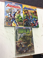 Marvel Animated Movie Lot! Ultimate Avengers 1& 2 Hulk Vs! Tested! Works!