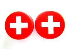 2 Swiss Flags Switzerland Tennis Vibration Shock Absorber Dampeners Rog Federer