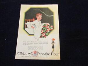 Vtg Original 1927 Pillsbury's Johnnie McGroucher Pancake Flour Pillsbury Ad Q140