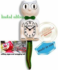 Candy Cane Green Limited Edition Kit-Cat Clock (15.5″ high)made In USA Oz Stock