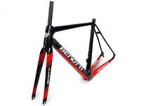 Rahmenset BENOTTI FUOCO Carbon, RH:53 Rennrad, schwarz-rot-weiß-glanz