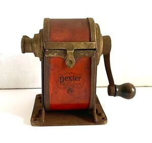 Old Vintage DEXTER Automatic PENCIL SHARPENER CO Chicago USA-Hand-Crank-Metal