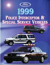 Brochure - Ford 1999 Police Interceptor & Special Service Vehicles.  New.