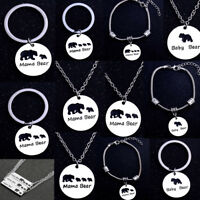 Mama Bear Gifts For Mother Mom Bracelet Keychain Pendant Necklace Mum Mother New