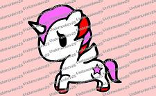Unicorn decal tokidoki for car,window,laptop etc..