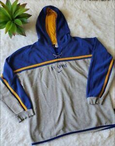 Vintage Nike St Louis Blues NHL Men's Embroidered Sweatshirt Hoodie Fleece Sz L