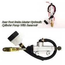 ATV Pit Dirt Bike Rear Foot Brake Master Hydraulic Cylinder Pump With Reservoir