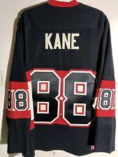CCM Ribbed Knit LS NHL Jersey Chicago Blackhawks Patrick Kane Black sz L