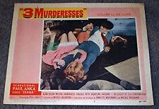 3 MURDERESSES orig 1960 lobby card ALAIN DELON/PASCALE PETIT 11x14 movie poster