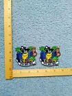 RARE LOT OF 2 PIRATE PARROT YO HO HO BEER STINE IRON ON PATCHES
