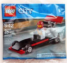 LEGO 30358 CITY Dragster Polybag 40pcs New Mini Figure Polybag -SHIPS WORLDWIDE