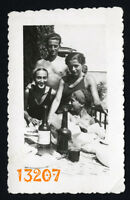 Vintage Photograph, shirtless boy w girls drinking beer, cigarette, swimsuit