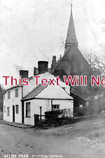 CH 562 - Police Station & Church, Helsby, Cheshire c1907 - 6x4 Photo