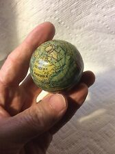 ANTIQUE TIN GLOBE CHRISTMAS CANDY CONTAINER ORNAMENT
